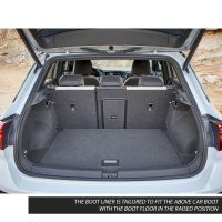 Tailored Black Boot Liner to fit Volkswagen T-Roc 2018 - 2021 (with Raised Boot Floor)