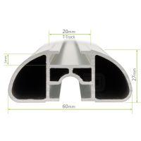 Aero Silver Aluminium Roof Bars to fit Honda FR-V 2004 - 2009 (No Roof Rails)
