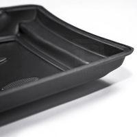 Tailored Black Rubber 4 Piece Floor Mat Set to fit Nissan Qashqai Mk.2 2014 - 2021