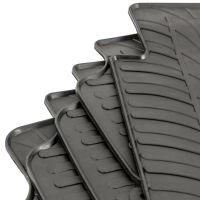 Tailored Black Rubber 5 Piece Floor Mat Set to fit Honda CR-V Mk.3 (Manual) 2007 - 2012