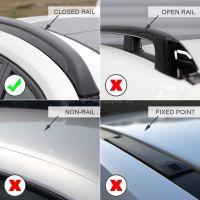 Pro Wing Black Aluminium Roof Bars to fit Seat Leon ST Estate Mk.3 2014 - 2020 (Closed Roof Rails)