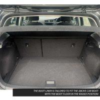 Tailored Black Boot Liner to fit Volkswagen Golf Hatchback Mk.7 2013 - 2020 (with Raised Boot Floor)