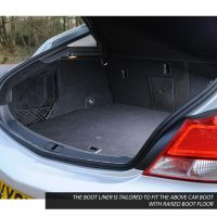 Tailored Black Boot Liner to fit Vauxhall Insignia Saloon Mk.1 2008 - 2017 (with Raised Boot Floor)